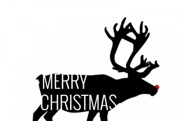 MerryChristmasRedNoseReindeer