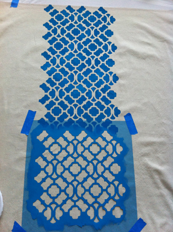 stenciled curtains6