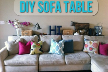 DIY Sofa Table Styling