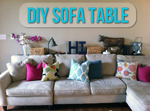 DIY Sofa Table Lets Get Crafty