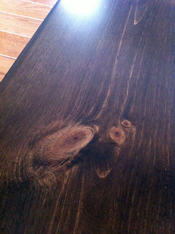 Sofa Table Stained