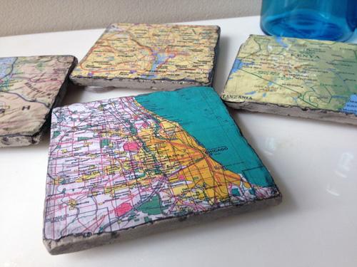 DIY Map Coasters1