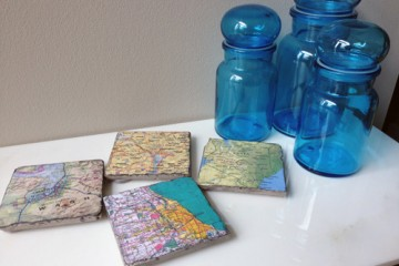 DIY Map Coasters2