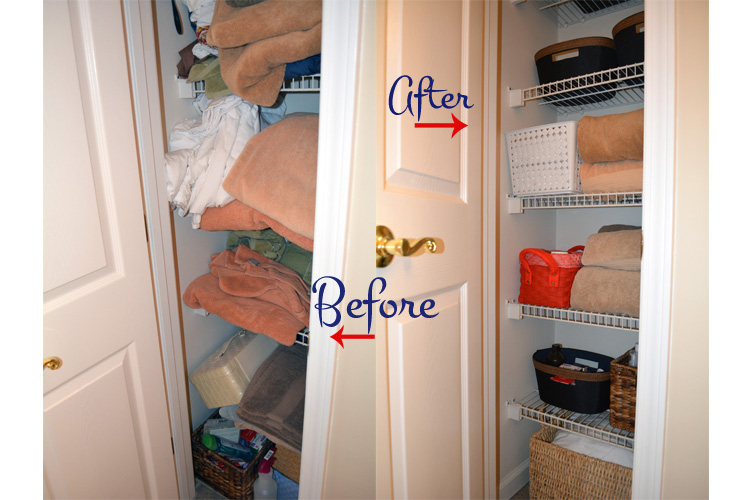 Before & After Linen Closet
