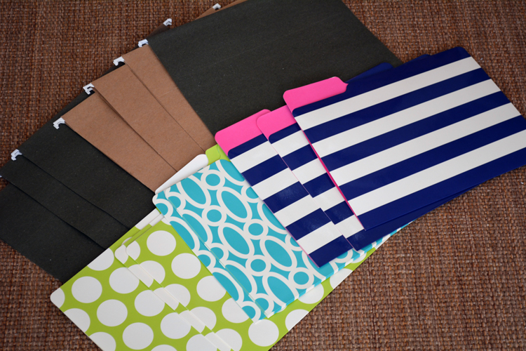 pretty file folders in boring hanging file holders
