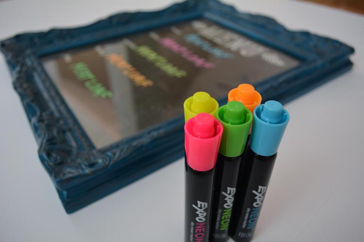 menu board + neon dry erase markers