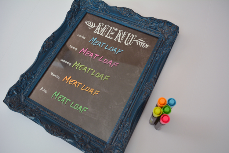 menu board and dry erase markers