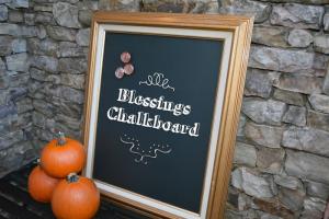 The Blessings Chalkboard