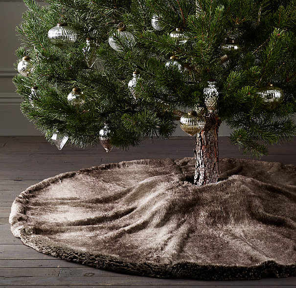 i bet this tree skirt is all luxe and a great place for your fur baby to curl up am i the only one whos kitty loves sleeping under the christmas tree