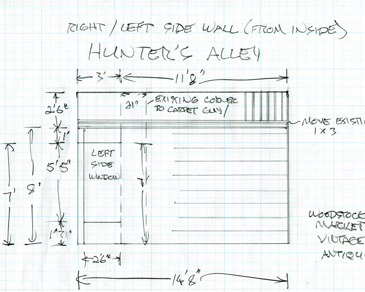 Hunters Alley Booth Drawings 3