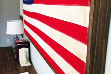 Restoration Hardware American Flag