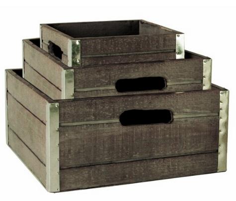 Farmhouse Decor - Set of Wood Crates