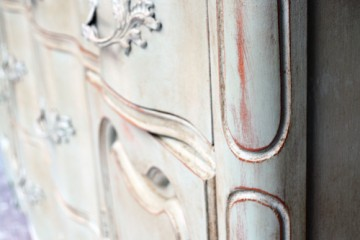 distressed china cabinet with chalk paint