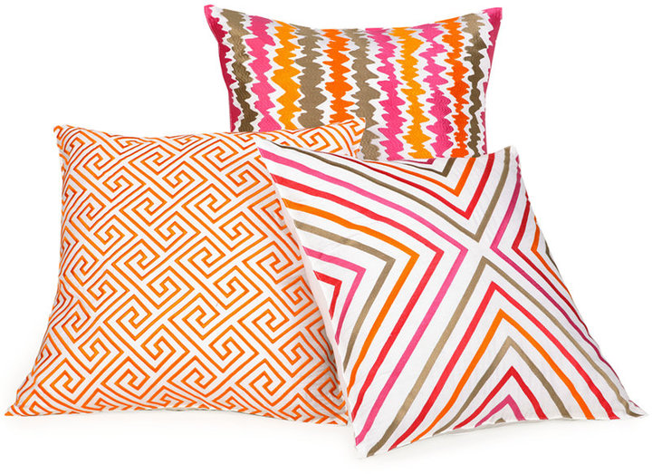 geometric design pillows