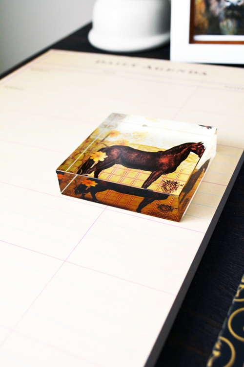 horse paper weight desk accessories