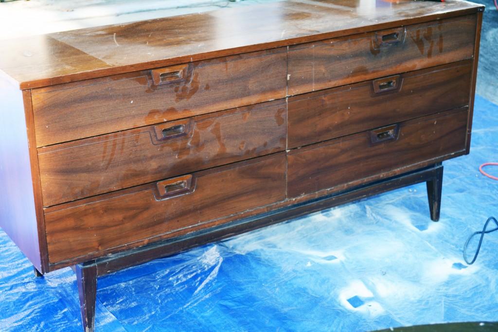 before midcentury modern dresser