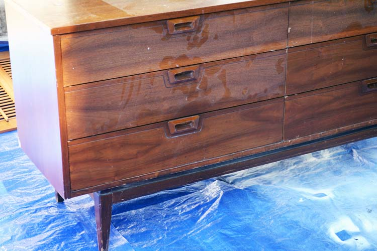 midcentury dresser before