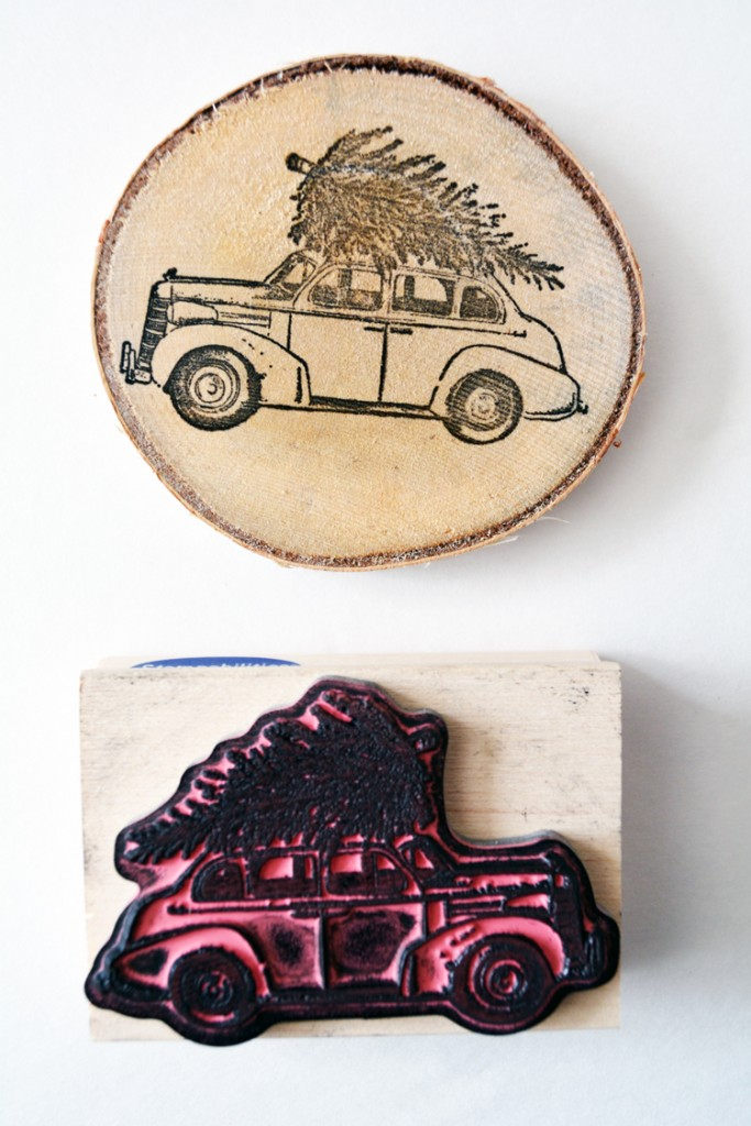 10 minute wood slice ornament